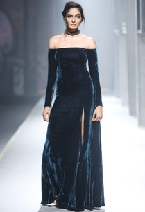 blue-velvet-off-shoulder-gown