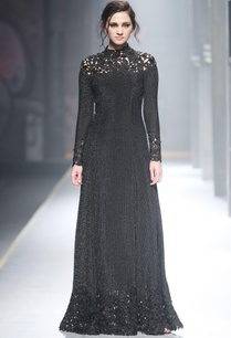 black-mesh-cutwork-gown