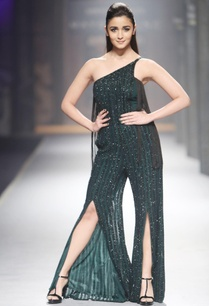 green-stripe-sequin-jumpsuit