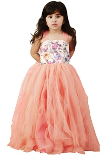 peach-floral-frilly-net-gown
