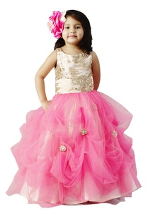 pink-flared-sequin-gown