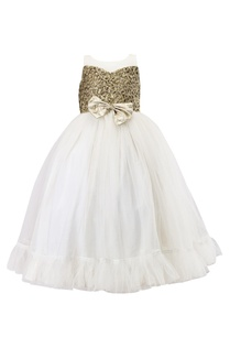 white-floral-embossed-brocade-dress