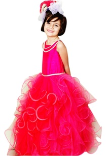 pink-tiered-ruffle-gown