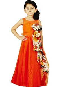 orange-gown-with-floral-bow