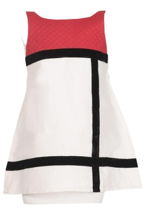 color-blocked-a-line-cotton-dress
