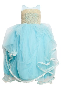 blue-gathered-net-gown
