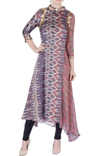 multicolored-embroidered-asymmetric-kurta