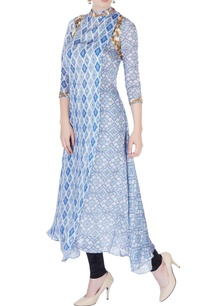 blue-printed-asymmetric-kurta