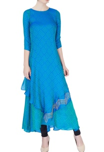 blue-printed-asymmetric-kurta