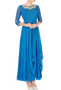 blue-embroidered-draped-anarkali