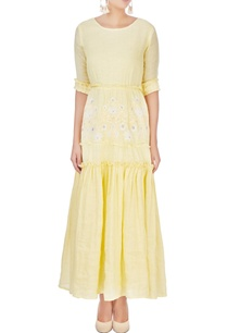 yellow-tiered-ruffle-maxi-dress