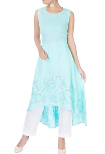 sky-blue-embroidered-sleeveless-kurta