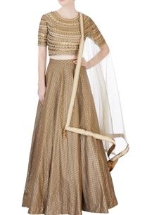 brown-embroidered-silk-lehenga-set