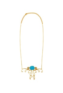 gold-plated-turquoise-pendant-necklace