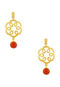 gold-plated-carnelian-earrings