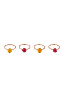 pink-yellow-quartz-ring-set