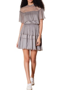 grey-tiered-layer-style-dress