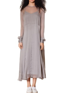 grey-slip-dress-with-sheer-layer