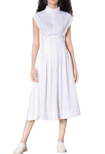 white-corset-waist-midi-dress