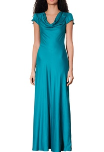blue-slit-sleeves-gown