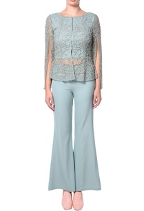 teal-green-flared-pant-set