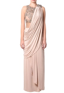 beige-draped-sheer-sari