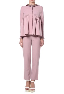 lavendar-peplum-top-pants