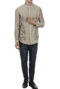 beige-patchwork-embroidered-shirt
