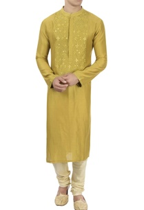 yellow-thread-embroidered-kurta