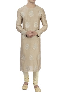 beige-patra-embroidered-kurta