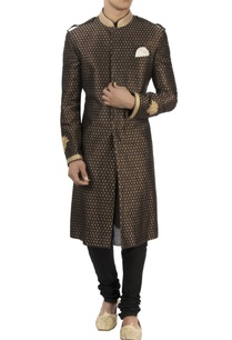 black-gold-lotus-embroidered-sherwani