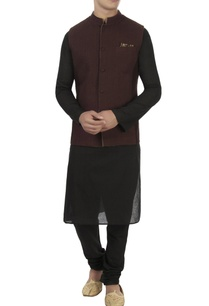 beige-jacquard-patch-nehru-jacket