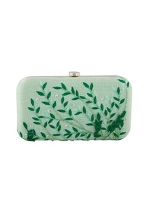 light-green-thread-embroidered-clutch