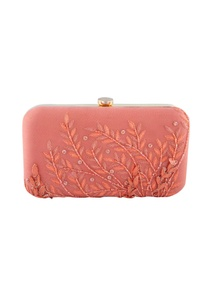 peach-sequin-embellished-clutch