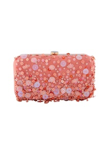 peach-clutch-with-multicolored-sequin-work