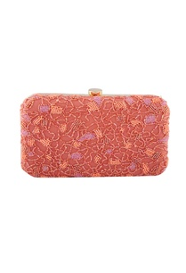 coral-pink-bead-embellished-clutch