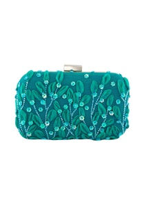 blue-clutch-with-long-silver-chain