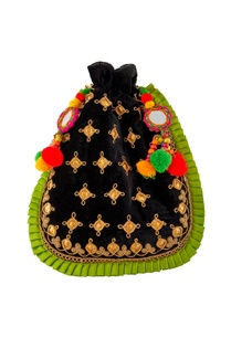 black-velvet-potli-with-pompoms