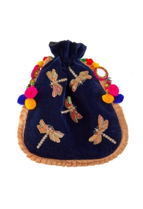 blue-potli-with-pompom-and-mirror-accents