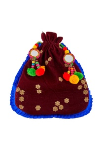 burgundy-potli-with-pompoms