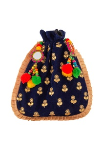 blue-potli-with-colorful-pompoms