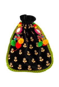 black-pompom-traditional-potli