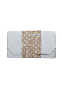 white-clutch-with-floral-embellishments