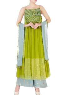 green-blue-thread-embroidery-kurta-set