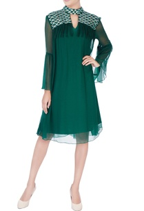 green-thread-embroidered-dress
