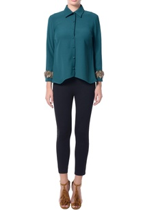 green-cape-style-blouse