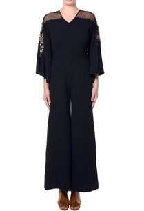 black-flared-sleeves-jumpsuit