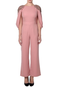 pink-jumpsuit-with-metallic-tassels