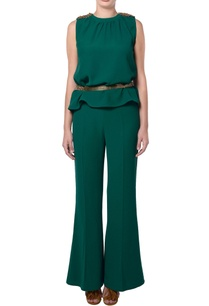 green-embellished-top-mini-flare-pants