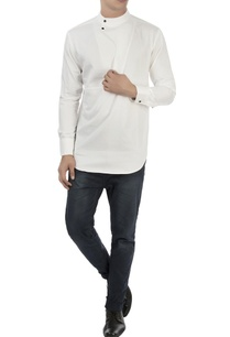 white-textured-shirt-with-high-collar